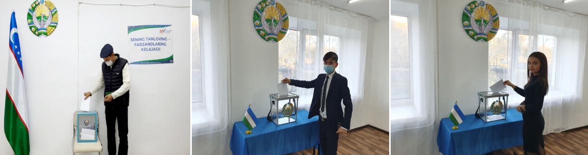 Досрочное голосование по выборам Президента Узбекистана проходит в городах Казахстана (Фоторепортаж)