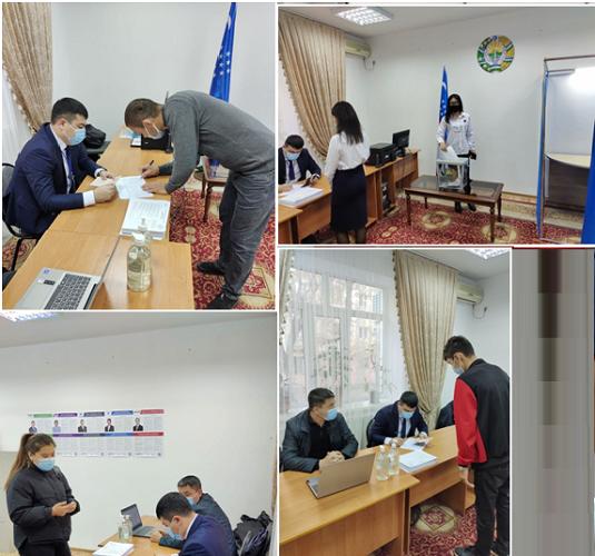 Избирательная комиссия избирательного участка при Генконсульстве Узбекистана в Актау проводит досрочное голосование в регионах Казахстана